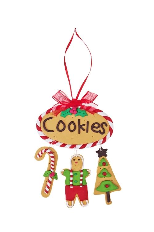 Украшение новогоднее Имбирное печеньеЕлочные игрушки<br>Выс=12см, керам., подвесное<br>