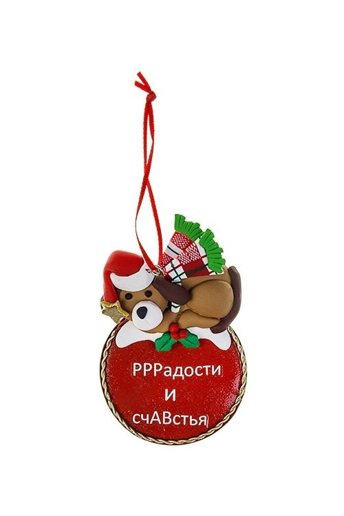 Украшение новогоднее РРРадости и счАВстьяСувениры и упаковка<br>6.5*10см, пластм., металл, подвесное<br>