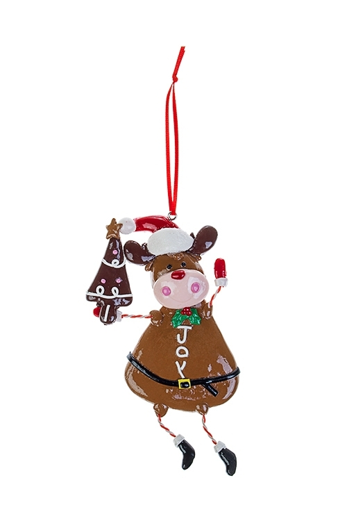 Украшение новогоднее Пряничный лосикСувениры и упаковка<br>8*13.5см, пластм., подвесное<br>