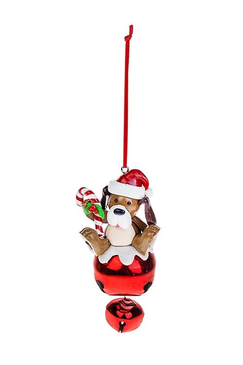 Украшение новогоднее Сладкий песикСувениры и упаковка<br>5*11см, пластм., металл, подвесное<br>