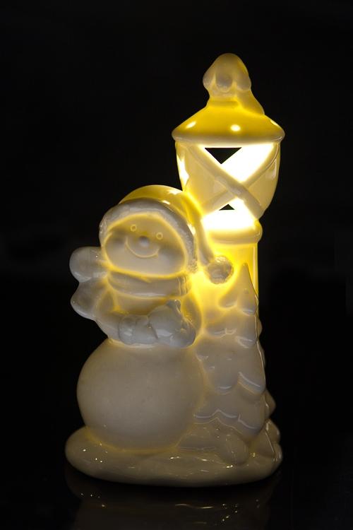 """Украшение новогоднее светящ. """"Ангелочек у фонаря"""" - 2"""
