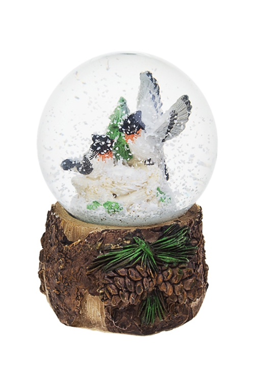 Украшение для интерьера Шар - СнегириНовогодние сувениры<br>8.5*7.5*12см, полирезин, стекло<br>