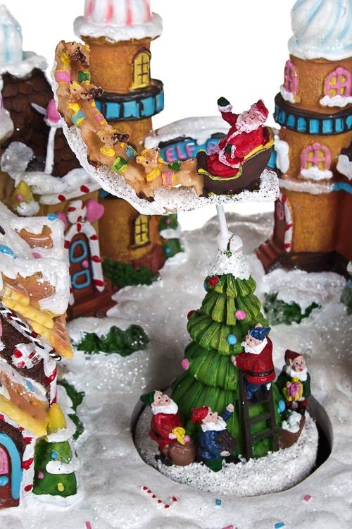 """Украшение новогоднее электр., светящ., музык. и двигающ. """"Пряничный город"""" - 2"""