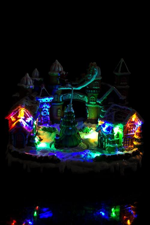"""Украшение новогоднее электр., светящ., музык. и двигающ. """"Пряничный город"""" - 3"""