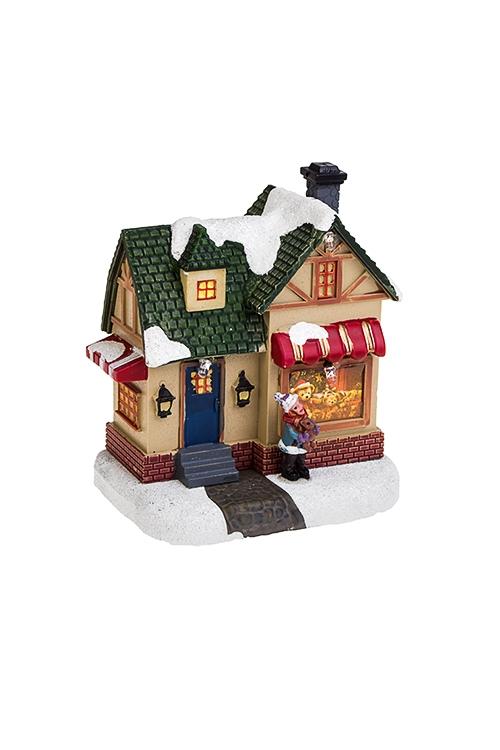 Украшение новогоднее светящееся Магазин подарковРождественские украшения<br>9*6*10см, пластм., на батарейках.<br>