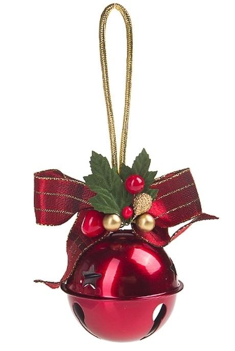 Украшение новогоднее Звук праздникаПодарки<br>Выс=10см, металл, пластм., красно-зеленое подвесное<br>
