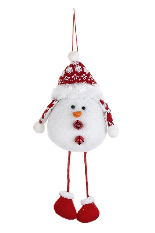 Украшение новогоднее ПтичкаИгрушки и куклы<br>9*12см, текстиль, бе ло-красное, подвесное (2 цвета)<br>