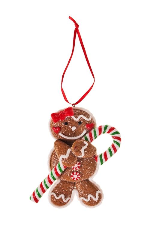 Украшение декоративное Засахаренный пряничекЕлочные игрушки<br>Выс=10см, керам., подвесное (2 вида)<br>
