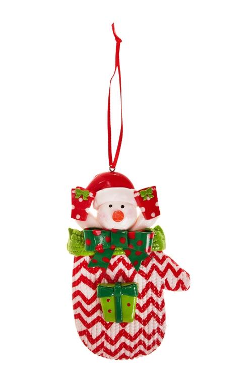 Украшение новогоднее Персонаж в носкеПодарки<br>Выс=11см, керам., разноцветн., подвесное (2 вида)<br>