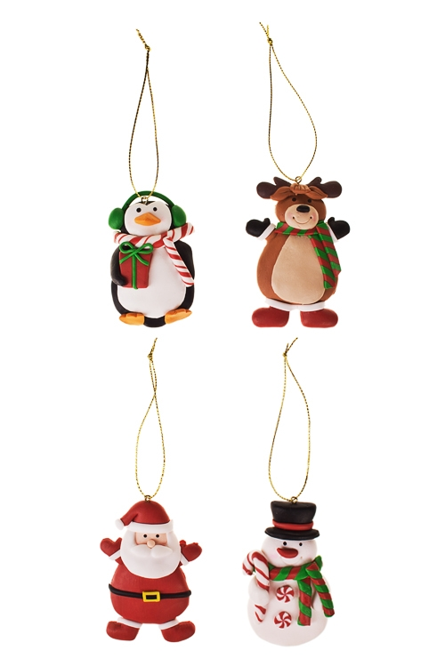 Набор украшений новогодних Новогодний персонажЕлочные игрушки<br>Выс=8см, керам., подвесной<br>