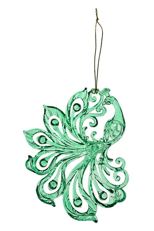 Украшение декоративное Жар-птицаЕлочные игрушки<br>15*10см, акрил, зеленое, подвесное (2 вида)<br>