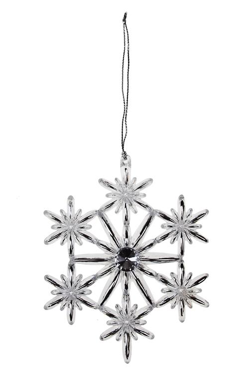 Украшение новогоднее Сияние снежинкиПодарки<br>Д=12см, акрил, прозр., подвесное (2 вида)<br>
