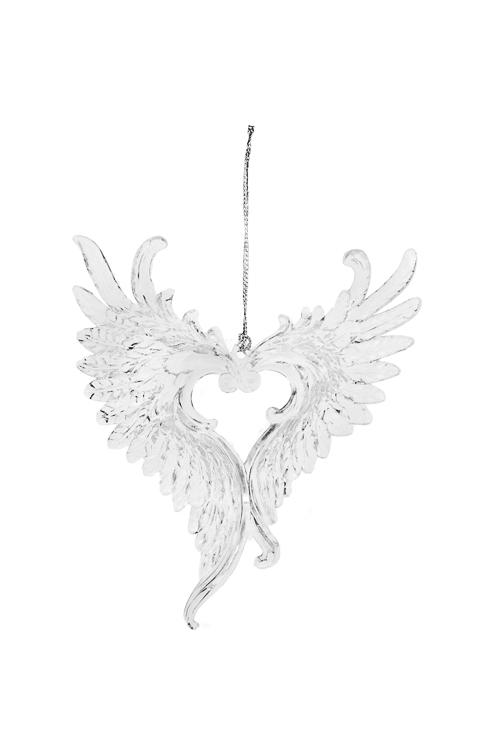 Украшение декоративное Счастливые крыльяСувениры и упаковка<br>11*13см, акрил, прозр., подвесное<br>