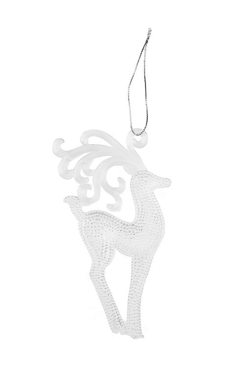 Украшение декоративное Волшебный оленьПодарки<br>Выс=13см, акрил, прозр., подвесное (2 вида)<br>