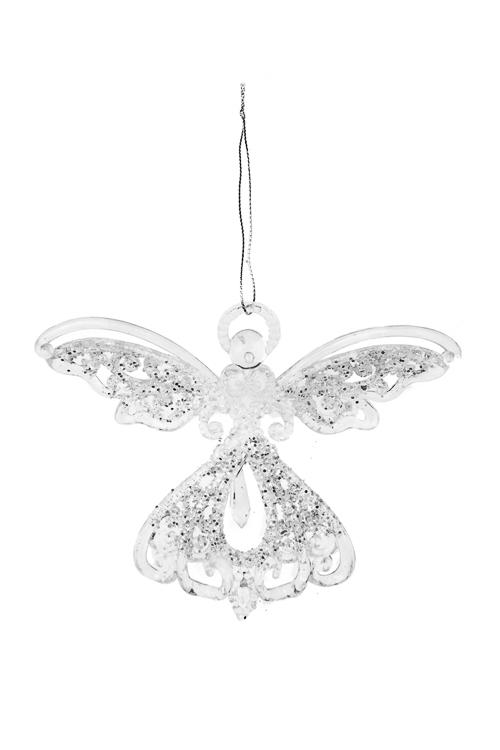 Украшение декоративное Изящный ангелСувениры и упаковка<br>10.5*13см, пластм., прозр., подвесное (2 вида)<br>