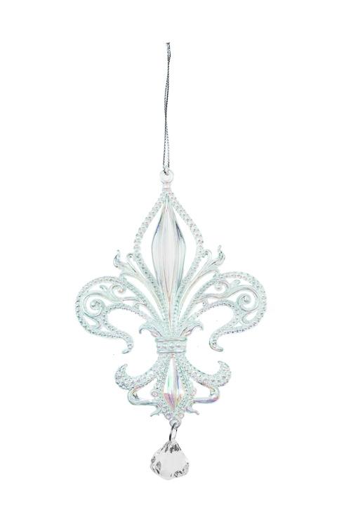 Украшение декоративное Королевская лилияЕлочные игрушки<br>Выс=15см, пластм., мятное, подвесное<br>