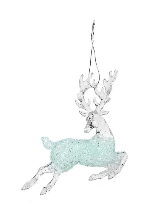 Украшение декоративное ОленьПодарки на Новый год 2018<br>12*12см, пластм., прозр., подвесное<br>