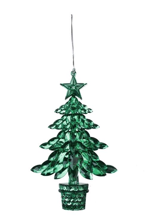 Украшение новогоднее ЕлочкаПодарки<br>Выс=16см, пласт., зеленое, подвесное<br>
