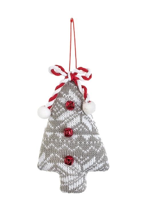 Украшение новогоднее Норвежская елочкаТекстильные игрушки<br>9*14см, текстиль, подвесное (2 цвета)<br>