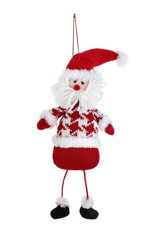 Украшение новогоднее Дедушка МорозТекстильные игрушки<br>11*24см, текстиль, бело-красное, подвесное<br>