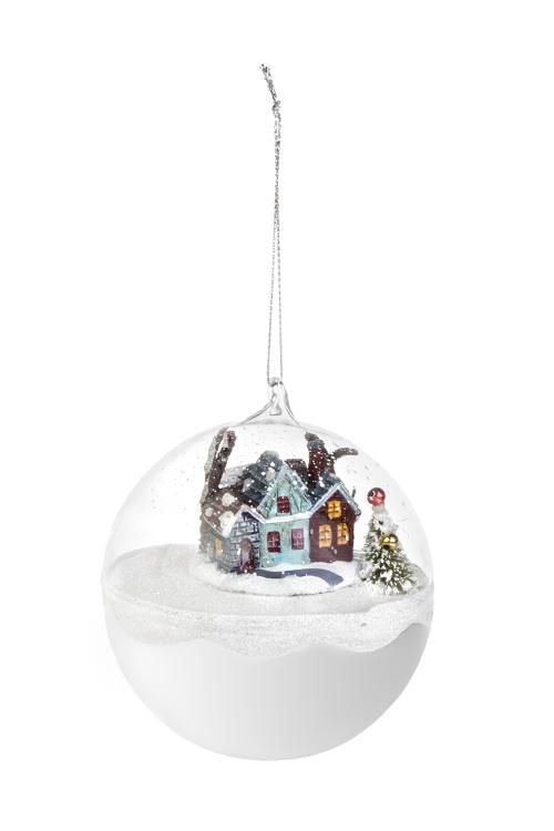 Украшение новогоднее Накануне праздникаЕлочные шары<br>Д=10см, стекло, подвесное<br>