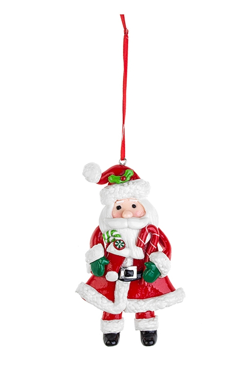 Украшение новогоднее Дедушка МорозЕлочные игрушки<br>Выс=11см, пластм., подвесное (3 вида)<br>