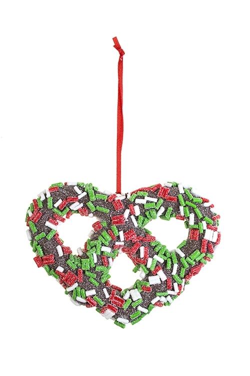 Украшение декоративное КрендельПодарки на Новый год 2018<br>Выс=11см, пластм., подвесное<br>