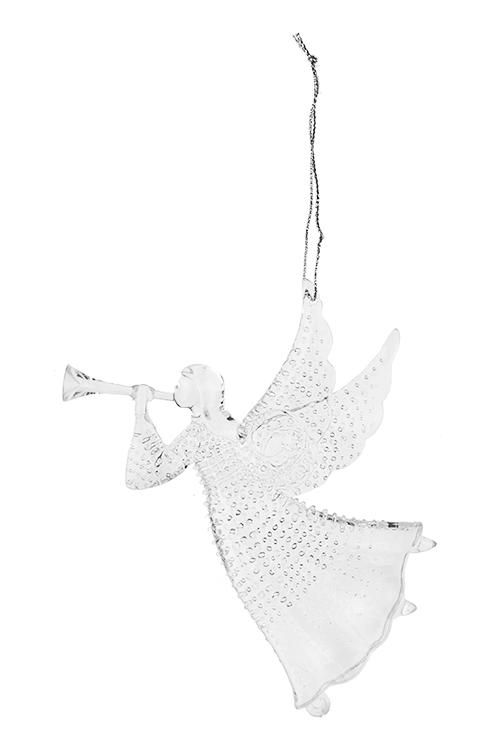 Украшение декоративное Музыкальный ангелСувениры и упаковка<br>Выс=13см, акрил, прозрачное, подвесное<br>