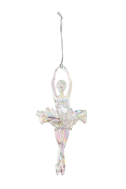 Украшение декоративное БалеринаДекоративные гирлянды и подвески<br>Выс=16см, пластм., крем., подвесное (2 вида)<br>