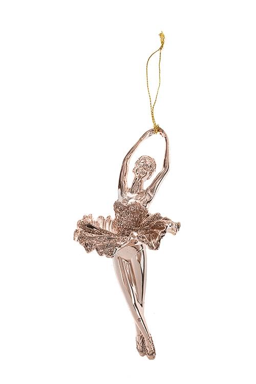 Украшение декоративное БалеринаДекоративные гирлянды и подвески<br>Выс=15см, пластм., золот., подвесное (2 вида)<br>