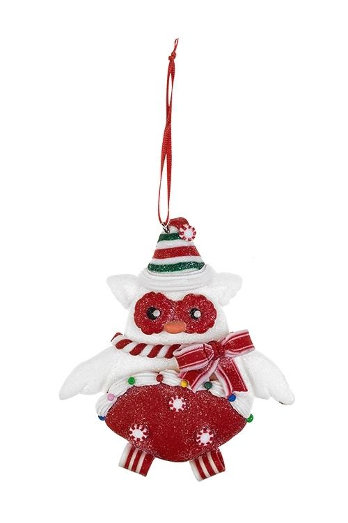Украшение декоративное Сладкая совушкаДекоративные гирлянды и подвески<br>10*11см, пластм., подвесное (2 вида)<br>
