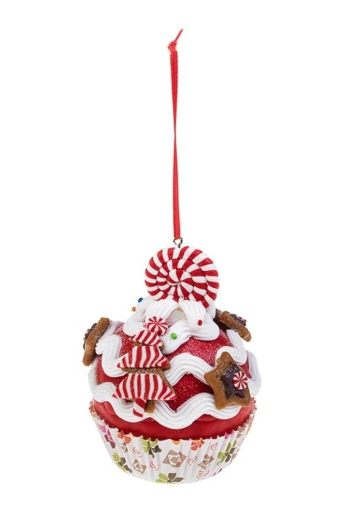Украшение декоративное Сладкий кексикДекоративные гирлянды и подвески<br>8*10см, пластм., подвесное (2 вида)<br>