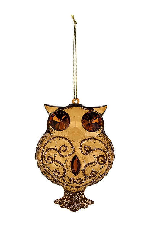 Украшение декоративное СовушкаСувениры и упаковка<br>Выс=10см, акрил, коричн., подвесное<br>