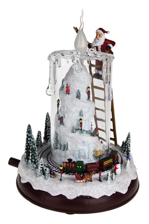 """Украшение новог. светящ., музык. и двиг. """"Дед Мороз со свечой"""" - 1"""