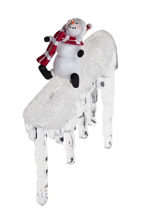 Украшение новогоднее Новогодний персонаж на льдинкеПодарки<br>Акрил, полирезин (3 вида)<br>