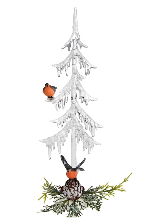 Украшение новогоднее Снегири под елочкойПодарки на Новый год 2018<br>Выс=31см, акрил, полирезин<br>