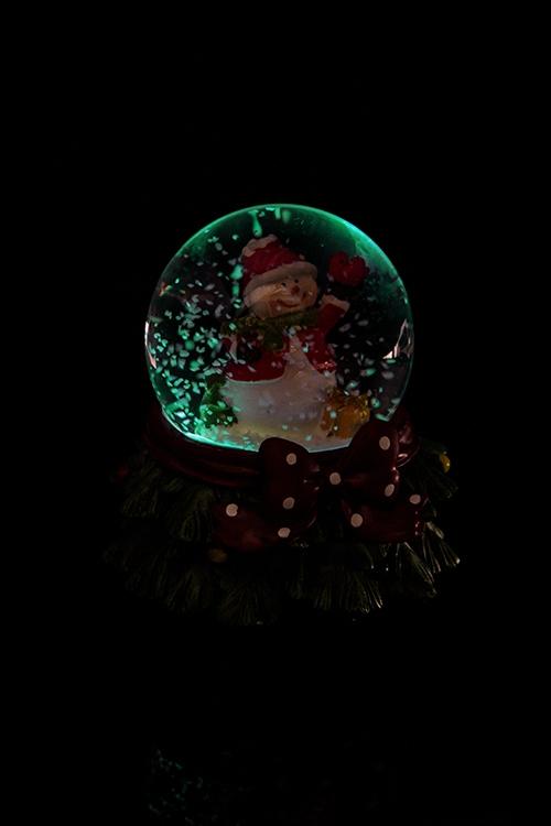"""Шар со снегом светящийся """"Снеговик"""" от Красный куб"""