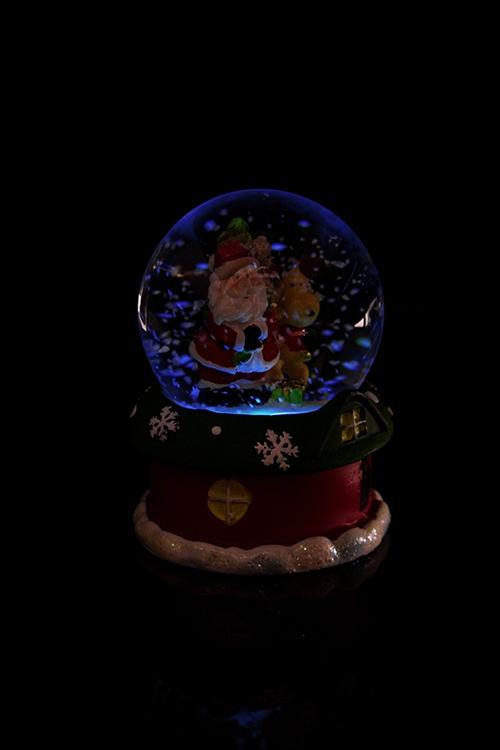 """Шар со снегом светящийся """"Дед Мороз с олененком"""" от Красный куб"""