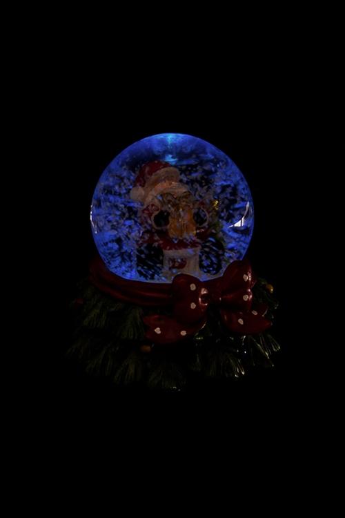 """Шар со снегом светящийся """"Дед Мороз с подарком"""" от Красный куб"""