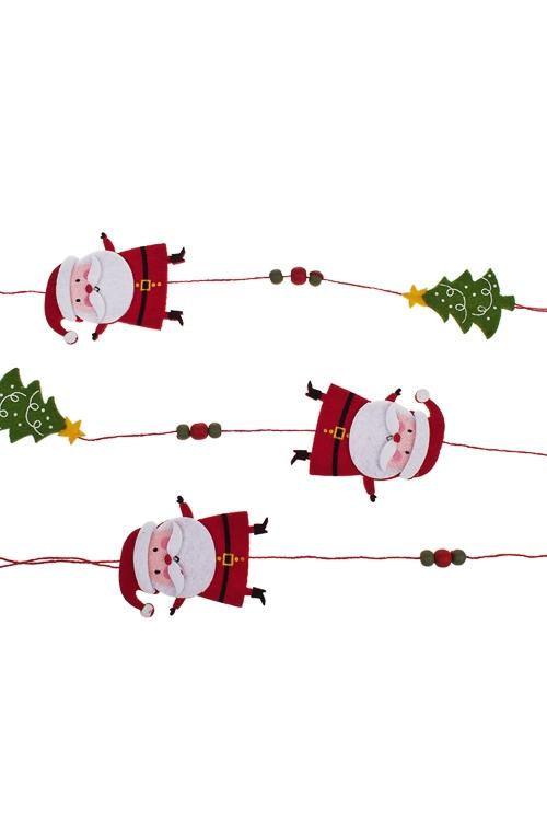 """Украшение новогоднее """"Гирлянда - Деды Морозы с елками"""" - 2"""
