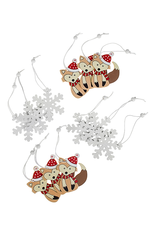 Набор украшений новогодних В ожидании праздникаСувениры и упаковка<br>12-предм., Выс=6см, дерево, подвесной<br>