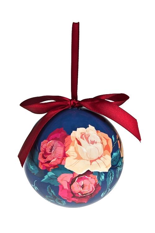 Шар елочный Ретро-розыЕлочные шары<br>Д=10см, пенопласт, бум.<br>