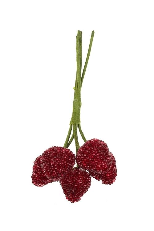 Украшение для интерьера Лесные ягодкиНовогодние ветки и венки<br>Выс=15см, пенопласт, металл, красно-черное<br>
