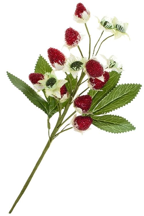 Украшение для интерьера Сладкая ягодкаНовогодние ветки и венки<br>Выс=42см, текстиль, пенопласт, металл, красно-зеленое<br>