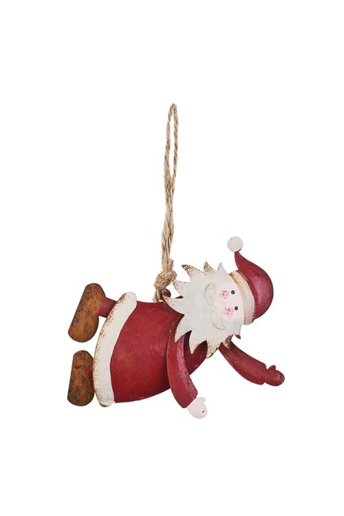Украшение новогоднее Дедушка МорозСувениры и упаковка<br>Дл=11см, металл, красно-белое, подвесное<br>