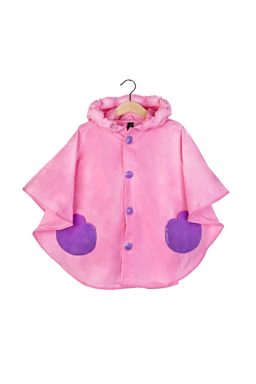 Плащ-дождевик детский КэтРаспродажа Black Friday<br>Плащ-дождевик в виде пончо на кнопках. Размер M (6-8 лет).  Материал: 100% ПВХ.  С надувным капюшоном и сумочкой для хранения.<br>