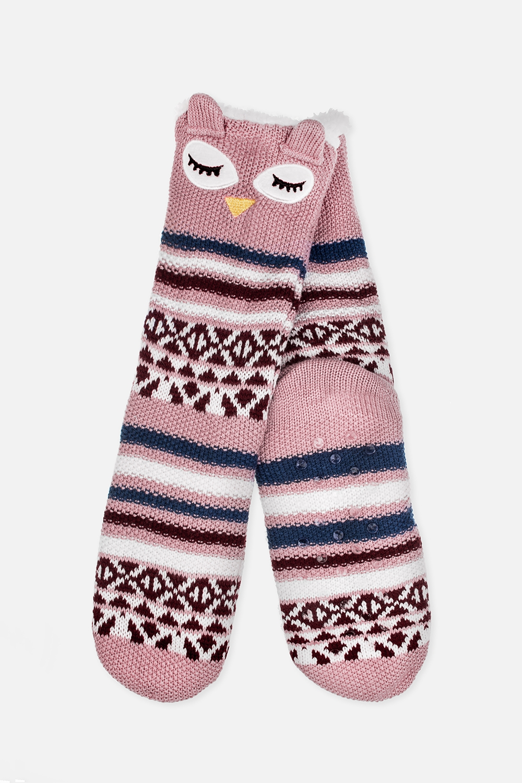 Носки домашние детские СовушкаМатериал: 100% акрил<br>