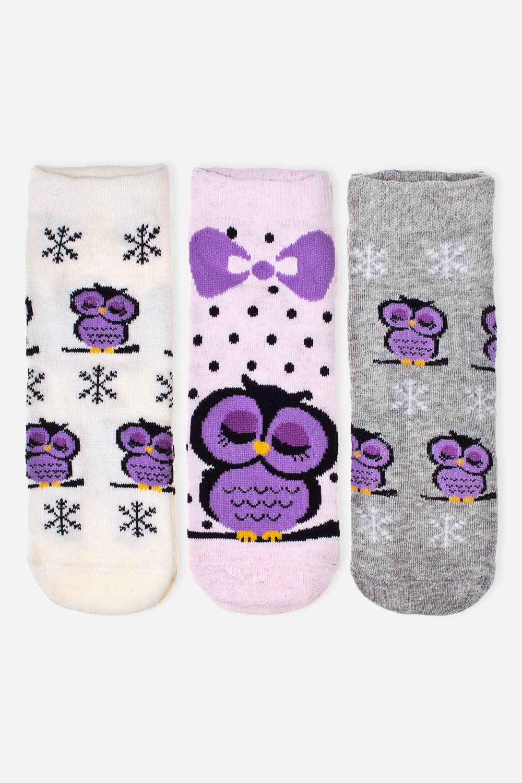 Набор носков СовикиНабор из трех пар носков. Состав: 72% хлопок, 26% полиэстер, 2% эластан.<br>