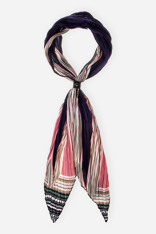 Шарф-галстук ЭндиАксессуары<br>Тонкий шарф со съемным ремешком-застежкой из искусственной кожи. Размер 35*150см. Состав: 100% полиэстер<br>