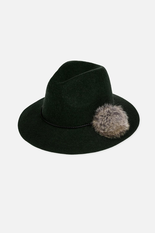 Шляпа ЛоуриПодарки для женщин<br>Материал: 100% шерсть. Помпон из меха енота.<br>